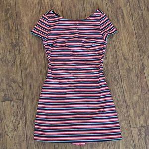 Zara Striped Romper Dress NWOT